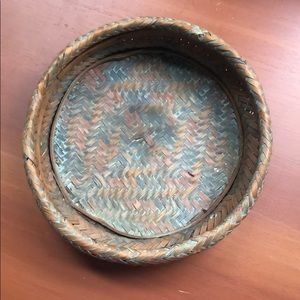 Vintage blue tinted basket